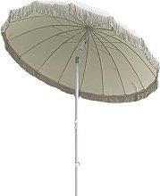 SHANJ Paraguas de Patio Blanco Redondo de 2 m con