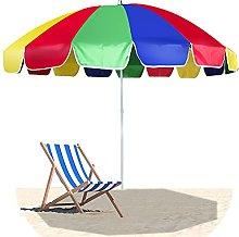 SHANJ Sombrilla de Playa al Aire Libre Rainbow de