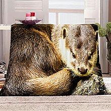 SHOMEY Manta de Franela Animal 180x220 cm Muy