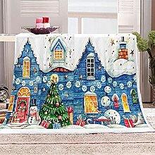 SHOMEY Manta de Franela árbol de Navidad 130x150