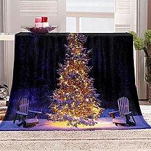 SHOMEY Manta de Franela árbol de Navidad 180x220
