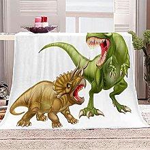 SHOMEY Manta de Franela Dinosaurio 100x130 cm Muy