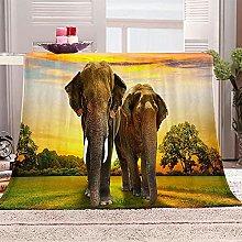 SHOMEY Manta de Franela Elefante 150x200 cm Muy