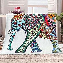 SHOMEY Manta de Franela Elefante 180x220 cm Muy