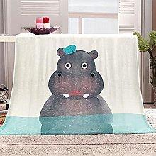 SHOMEY Manta de Franela hipopótamo 150x200 cm Muy
