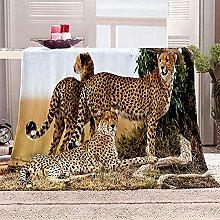 SHOMEY Manta de Franela Leopardo 180x200 cm Muy