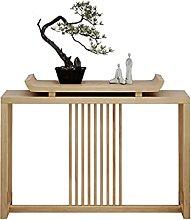 Side table-Q Mesa Lateral De Acento, Madera Maciza