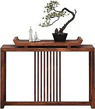 Side table-Q Mesa Lateral De Madera Maciza, Mesa