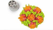 Silikomart - flower tube 04 - boquilla de acero