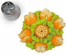 Silikomart - flower tube 06 - boquilla de acero