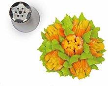 Silikomart - flower tube 08 - boquilla de acero