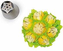 Silikomart - flower tube 09 - boquilla de acero