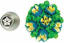 Silikomart - flower tube 30 - boquilla de acero