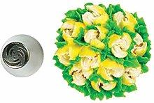 Silikomart - flower tube 34 - boquilla de acero