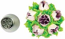Silikomart - flower tube 41 - boquilla de acero