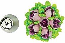 Silikomart - flower tube 46 - boquilla de acero