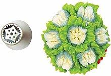 Silikomart - flower tube 49 - boquilla de acero