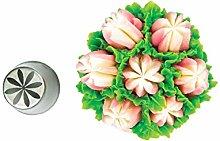 Silikomart - flower tube 54 - boquilla de acero