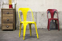 Silla amarilla de diseño industrial Multipl's