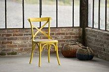 Silla amarilla de estilo vintage Pampelune