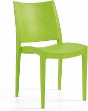 Silla BEYBE, apilable, polipropileno verde lima