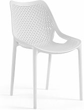Silla BILL, apilable, polipropileno blanco*
