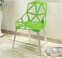 Silla CAMY, aluminio, polipropileno verde