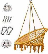 Silla colgante con cojín suave y kit de herrajes