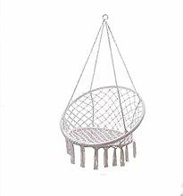 Silla colgante con cuerda de algodón, cómoda y