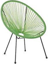 Silla de balcón de ratán verde ACAPULCO II