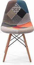 Silla de Comedor Cool tapizada en Tela Patchwork