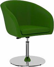 Silla de comedor de cuero sintético verde - Verde