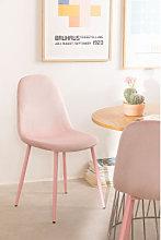Silla de Comedor en Terciopelo Glamm Colors Rosa