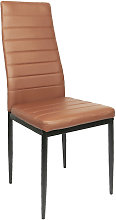 Silla de comedor, marrón,lote de 2, silla de
