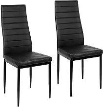 Silla de comedor, negro, lote de 2, silla de