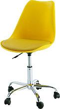 Silla de escritorio con ruedas amarilla