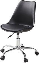 Silla de escritorio con ruedas color negro