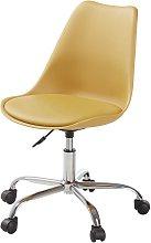 Silla de escritorio con ruedas color ocre