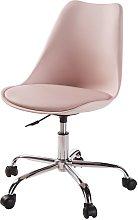 Silla de escritorio con ruedas rosa