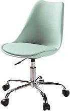 Silla de escritorio con ruedas verde