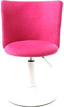 Silla de escritorio infantil rosa y blanca NEW