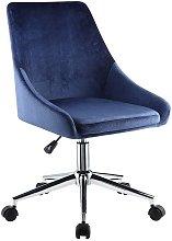 Silla de escritorio MASURIE - Terciopelo - Azul