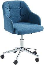 Silla de escritorio MISSOURI - Tela - Azul -