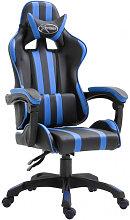 Silla de gaming de cuero sintético azul Vida XL