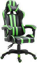 Silla de gaming de cuero sintético verde Vida XL