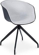 Silla de oficina acolchada negra de diseño Gris