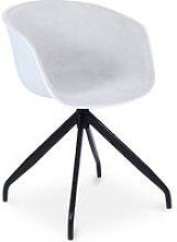 Silla de oficina blanca de diseño tapizada Gris