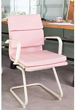 Silla de Oficina con Reposabrazos Mina Colors Rosa