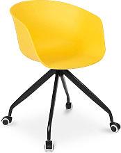 Silla de oficina de diseño con reposabrazos y