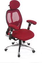 Silla de oficina ergonómica roja Ultimate v2 plus